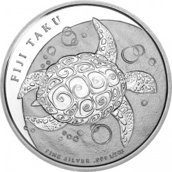 2011 New Zealand 1 oz Silver $2 Fiji Taku .999 Fine