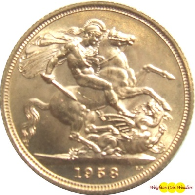 1958 QUEEN ELIZABETH II Gold Sovereign