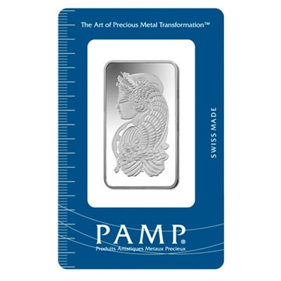 1oz Pamp Suisse Silver Bar - Fortuna