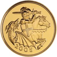 2005 QE II Gold Sovereign - Uncirculated