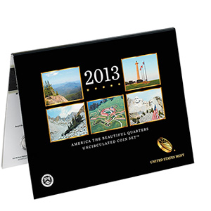 2013 America the Beautiful Quarters Uncirculated Coin Set