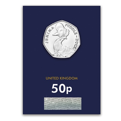 2016 BU 50p Coin (Card) - Jemima Puddle-Duck