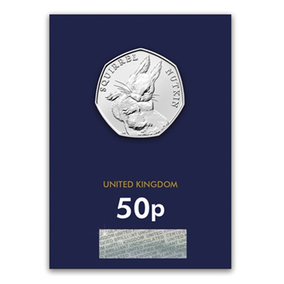 2016 BU 50p Coin (Card) - Squirrel Nutkin
