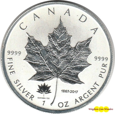 2017 1oz Silver MAPLE - 150th Ann. Privy