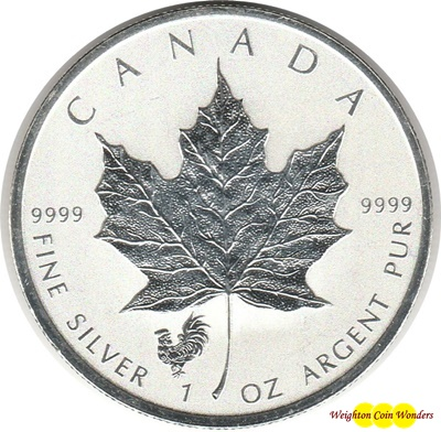 2017 1oz Silver MAPLE - Rooster Privy
