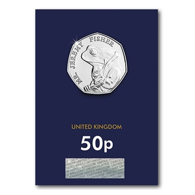 2017 BU 50p Coin (Card) - Mr Jeremy Fisher