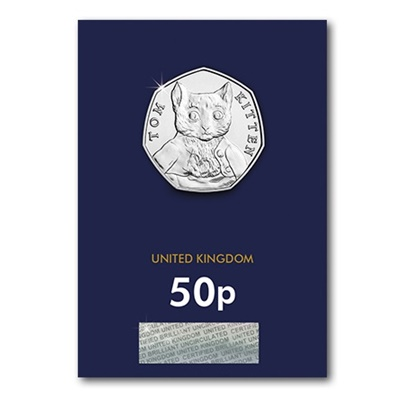2017 BU 50p Coin (Card) - Tom Kitten