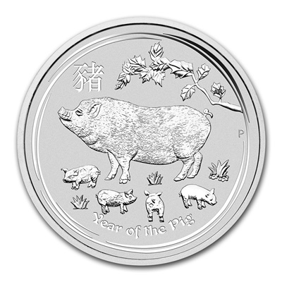 2019 1oz Silver Lunar PIG - NOW IN STOCK