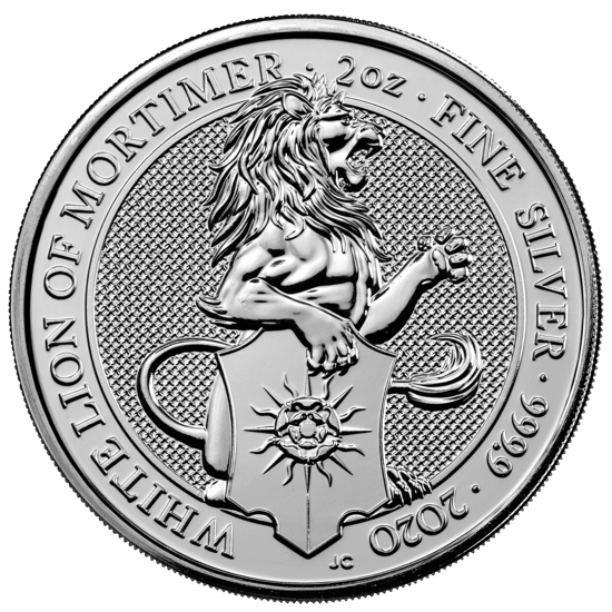 2020 2oz Silver Queen's Beast - THE WHITE LION