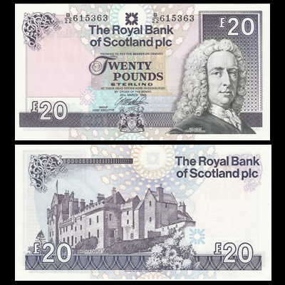 1999 Royal Bank of Scotland Plc £20